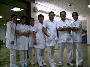 Bhea and her colleagues at Dubai Hospital