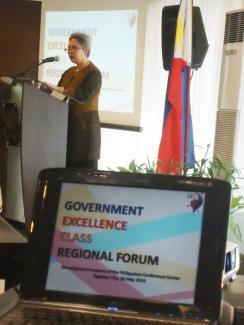 Magdalena L. Mendoza, Senior Vice President, DAP gave an opening message.