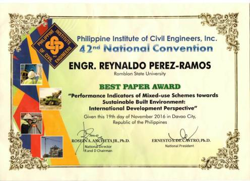PICE Best Paper Award 2016