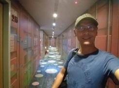 hallway of the hotel